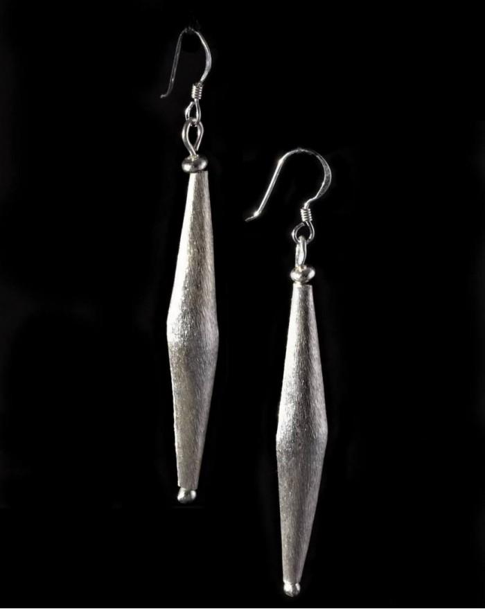 Boucles d'oreilles en argent massif – FUSEAU