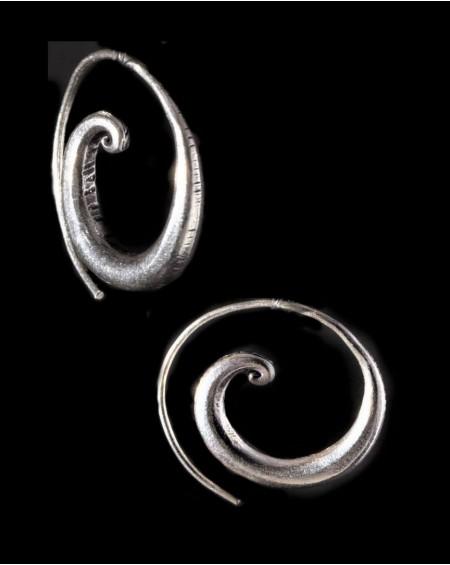 Boucles d'oreilles en argent massif – SPIRALES ÉCARTEURS