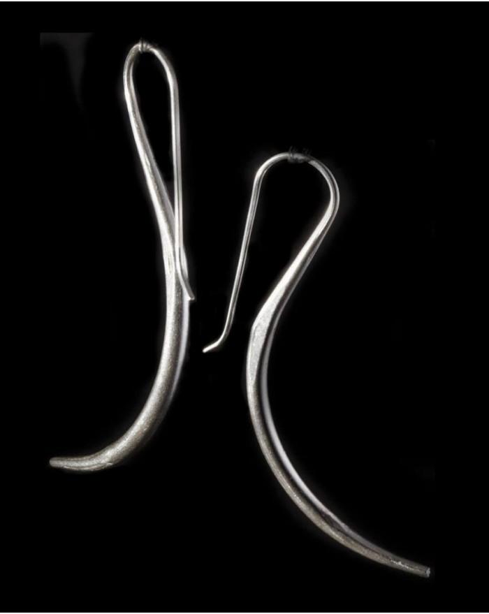 Boucles d'oreilles en argent massif – GRANDES VIRGULES