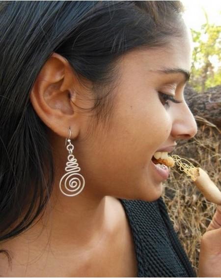 Boucles d'oreilles en argent massif – SPIRALES INDIENNES