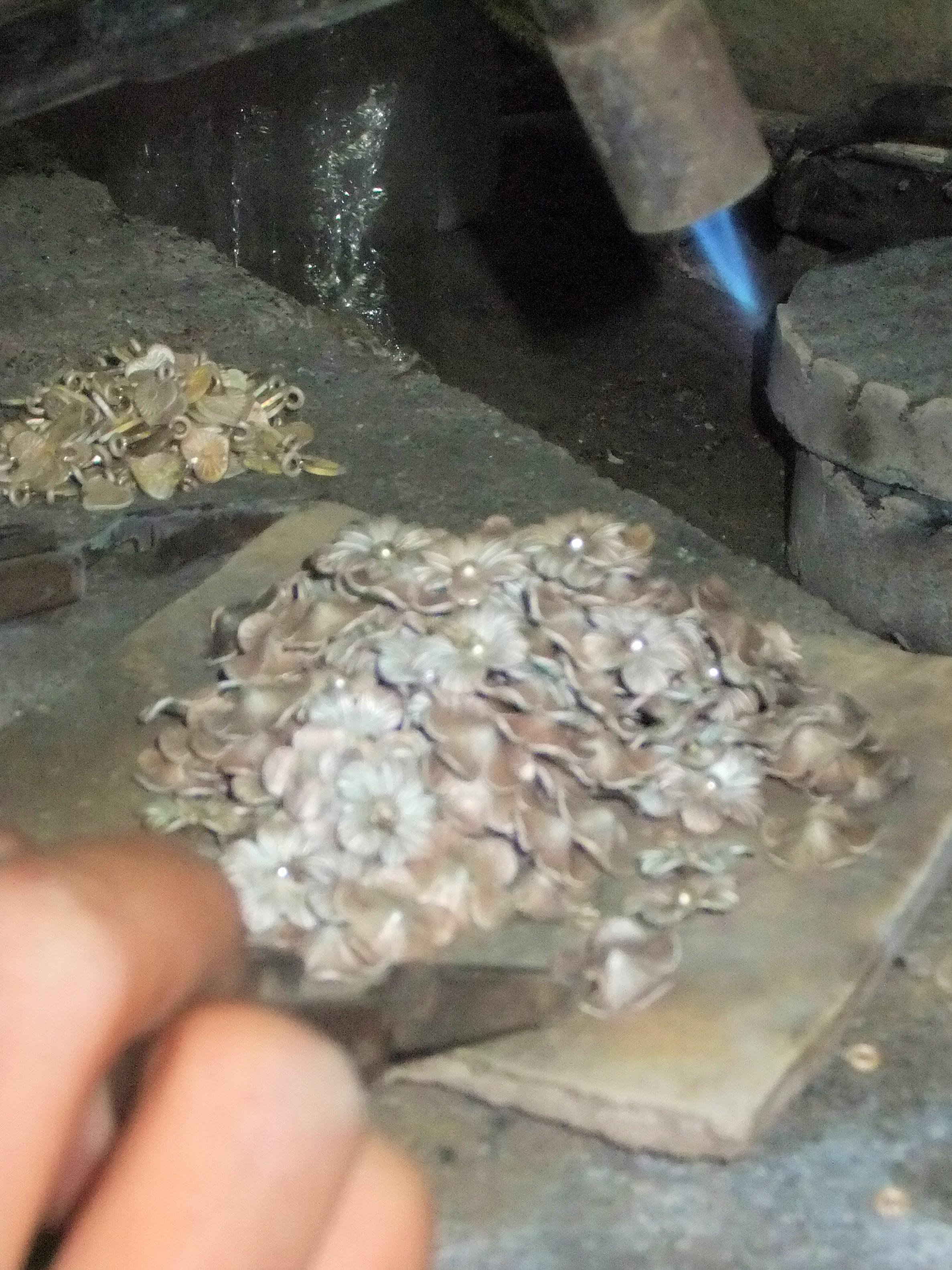 Soudure de bijoux en argent Karens